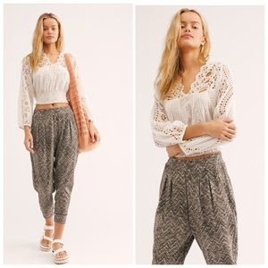 Free People Harlow Harem Printed Knit Casual Pant